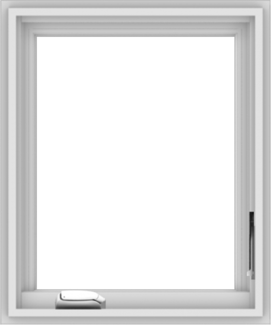 WDMA 20x24 (19.5 x 23.5 inch) White Vinyl uPVC Crank out Casement Window without Grids Interior