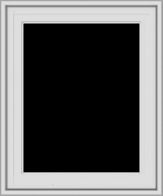 WDMA 20x24 (19.5 x 23.5 inch) White Vinyl uPVC Crank out Casement Window without Grids Exterior