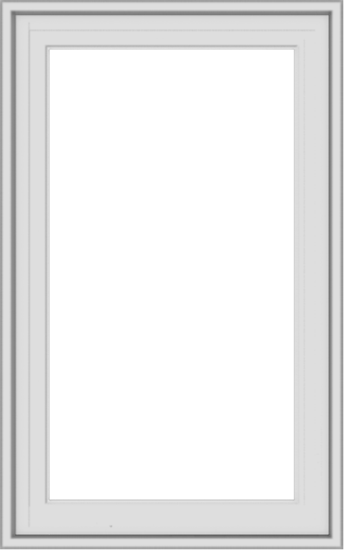 WDMA 20x32 (19.5 x 31.5 inch) White Vinyl uPVC Crank out Casement Window without Grids Exterior