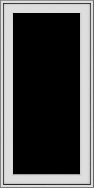 WDMA 20x40 (19.5 x 39.5 inch) Vinyl uPVC White Push out Casement Window without Grids Exterior