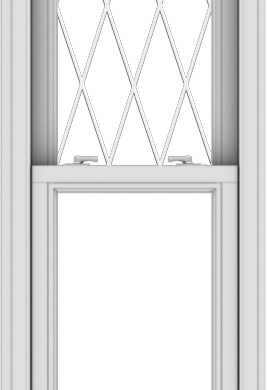WDMA 20x60 (19.5 x 59.5 inch)  Aluminum Single Double Hung Window with Diamond Grids