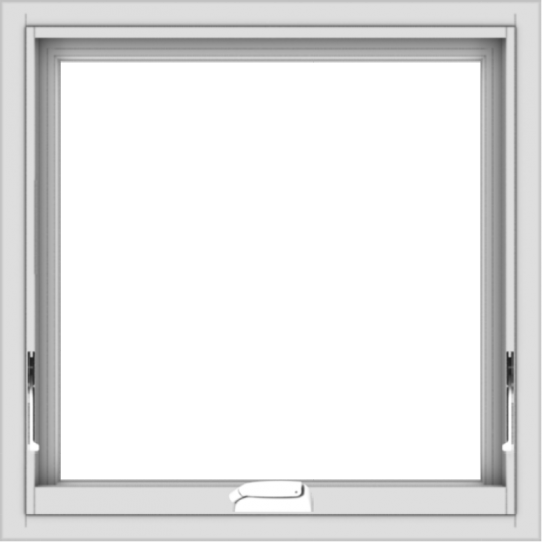 WDMA 24x24 (23.5 x 23.5 inch) White Vinyl uPVC Crank out Awning Window without Grids