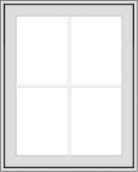 WDMA 24x30 (23.5 x 29.5 inch) White Vinyl uPVC Crank out Awning Window with Colonial Grids Exterior