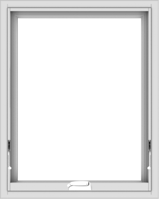 WDMA 24x30 (23.5 x 29.5 inch) White Vinyl uPVC Crank out Awning Window without Grids