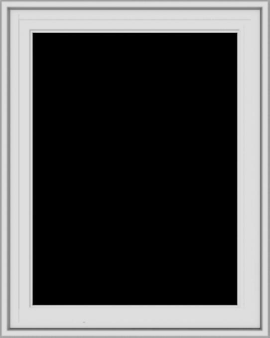 WDMA 24x30 (23.5 x 29.5 inch) White Vinyl uPVC Crank out Casement Window without Grids Exterior