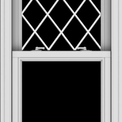 WDMA 24x40 (23.5 x 39.5 inch)  Aluminum Single Double Hung Window with Diamond Grids