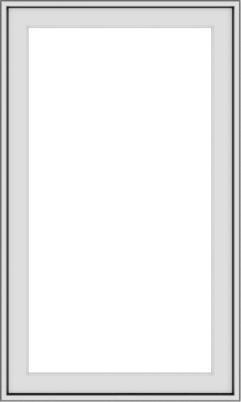 WDMA 24x40 (23.5 x 39.5 inch) Vinyl uPVC White Push out Casement Window without Grids Exterior