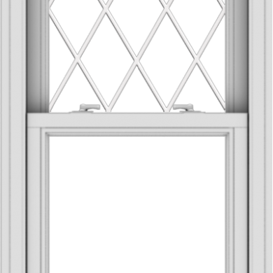 WDMA 24x48 (23.5 x 47.5 inch)  Aluminum Single Double Hung Window with Diamond Grids