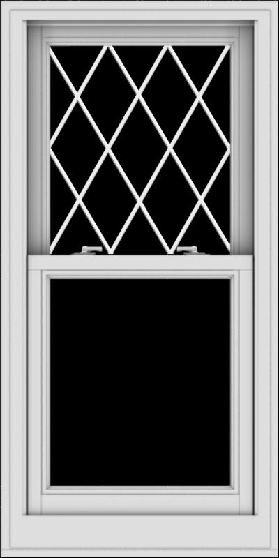 WDMA 24x48 (23.5 x 47.5 inch)  Aluminum Single Double Hung Window with Diamond Grids