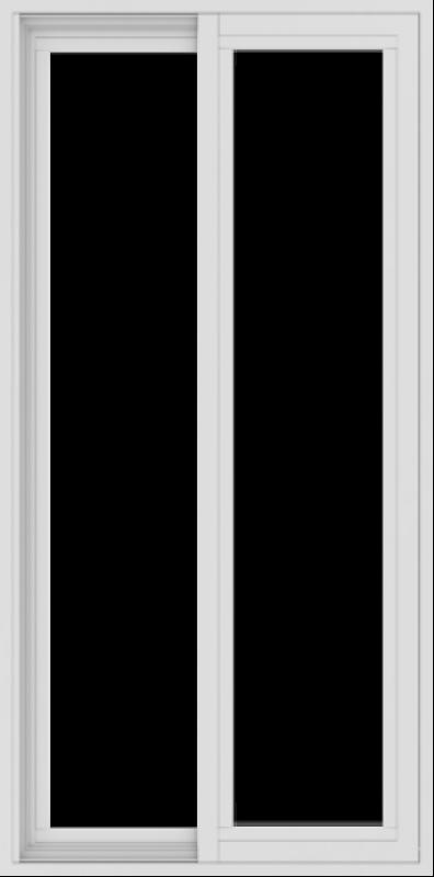 WDMA 24x48 (23.5 x 47.5 inch) Vinyl uPVC White Slide Window without Grids Exterior