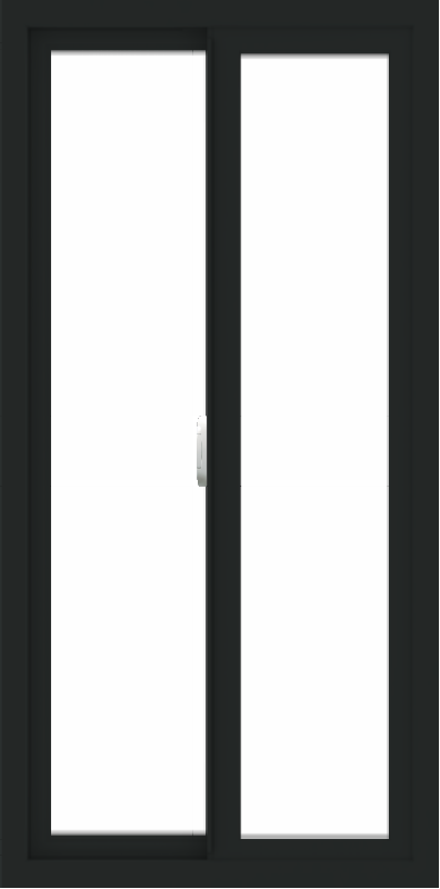 WDMA 24x48 (23.5 x 47.5 inch) Vinyl uPVC Black Slide Window without Grids Interior
