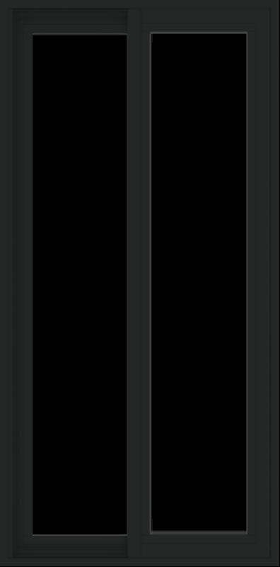 WDMA 24x48 (23.5 x 47.5 inch) Vinyl uPVC Black Slide Window without Grids Exterior