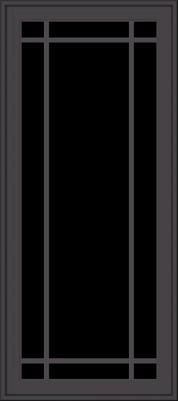 WDMA 24x54 (23.5 x 53.5 inch) Pine Wood Dark Grey Aluminum Crank out Casement Window with Prairie Grilles