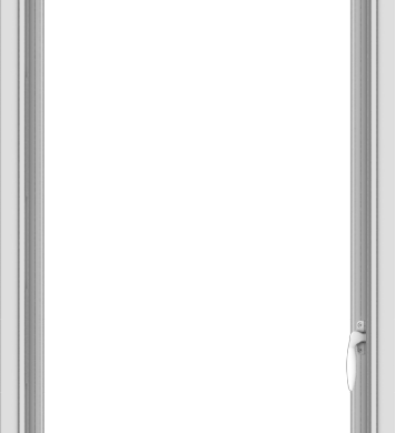 WDMA 24x54 (23.5 x 53.5 inch) uPVC Vinyl White push out Casement Window without Grids Interior
