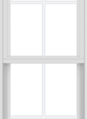 WDMA 24x66 (17.5 x 65.5 inch) Vinyl uPVC White Single Hung Double Hung Window with Colonial Grids Exterior