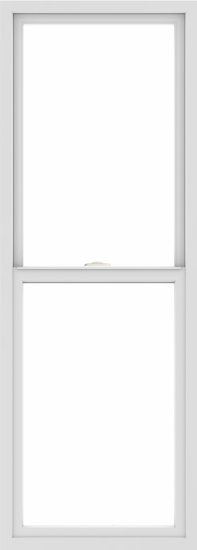WDMA 24x66 (23.5 x 65.5 inch) Vinyl uPVC White Single Hung Double Hung Window without Grids Interior