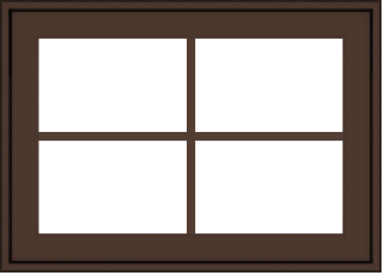 WDMA 28x20 (27.5 x 19.5 inch) Oak Wood Dark Brown Bronze Aluminum Crank out Awning Window with Colonial Grids Exterior
