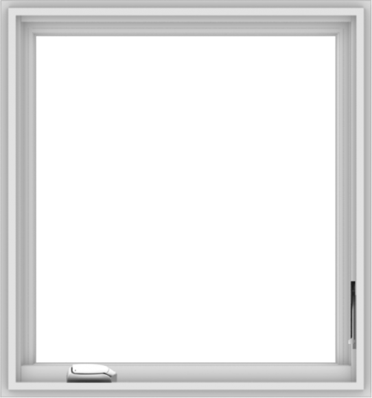 WDMA 28x30 (27.5 x 29.5 inch) White Vinyl uPVC Crank out Casement Window without Grids Interior