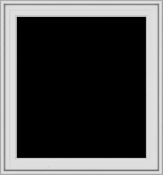 WDMA 28x30 (27.5 x 29.5 inch) White Vinyl uPVC Crank out Casement Window without Grids Exterior