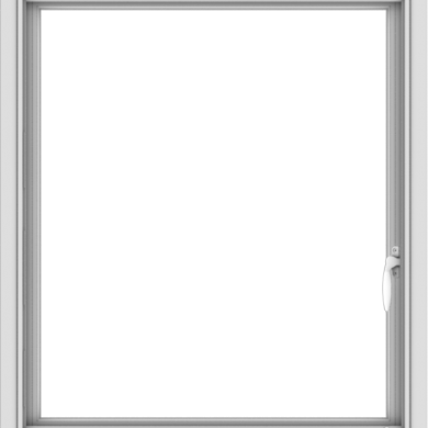 WDMA 28x32 (27.5 x 31.5 inch) Vinyl uPVC White Push out Casement Window without Grids Interior