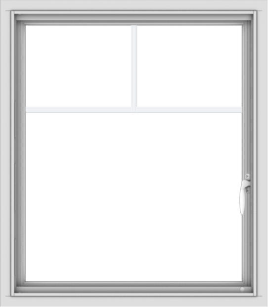 WDMA 28x32 (27.5 x 31.5 inch) Vinyl uPVC White Push out Casement Window with Fractional Grilles