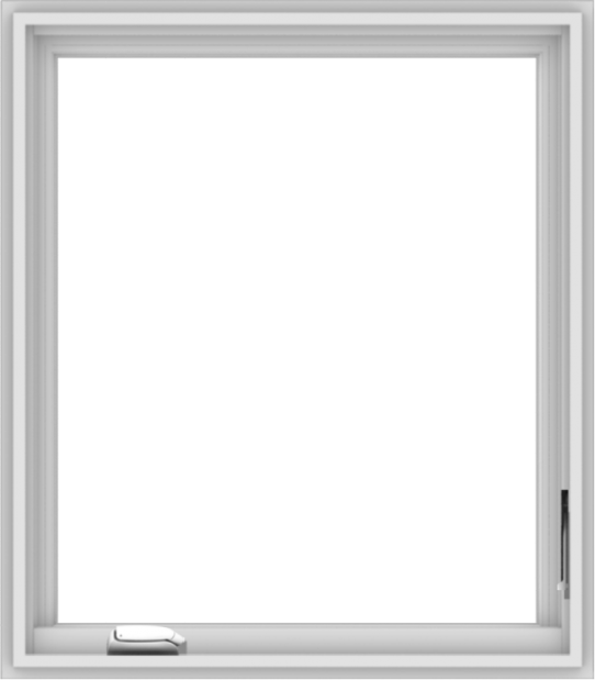 WDMA 28x32 (27.5 x 31.5 inch) White Vinyl uPVC Crank out Casement Window without Grids Interior