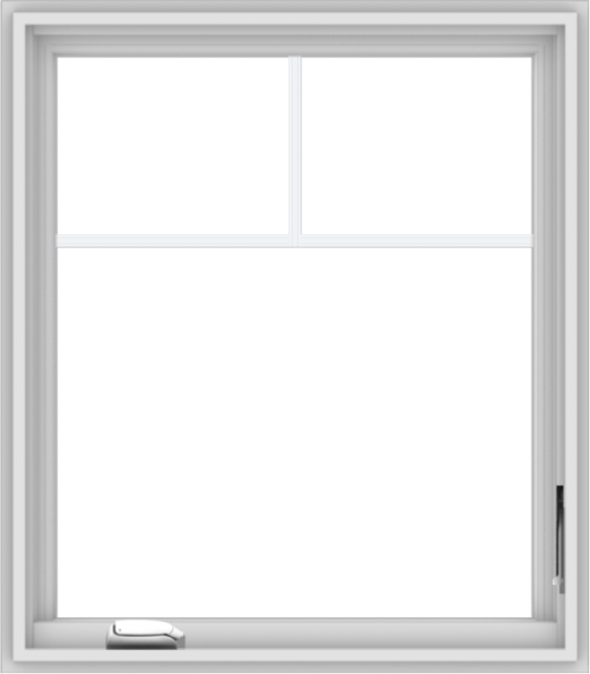 WDMA 28x32 (27.5 x 31.5 inch) White Vinyl uPVC Crank out Casement Window with Fractional Grilles
