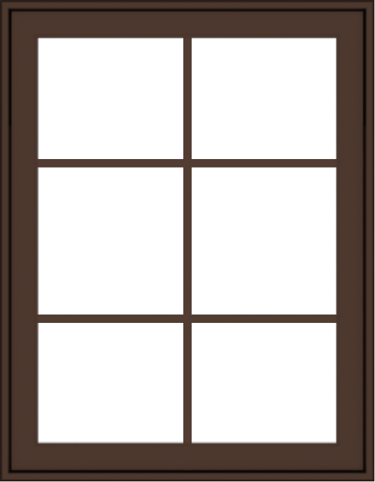 WDMA 28x36 (27.5 x 35.5 inch) Oak Wood Dark Brown Bronze Aluminum Crank out Awning Window with Colonial Grids Exterior
