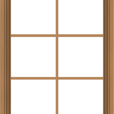WDMA 28x36 (27.5 x 35.5 inch) Oak Wood Green Aluminum Push out Awning Window with Colonial Grids Interior