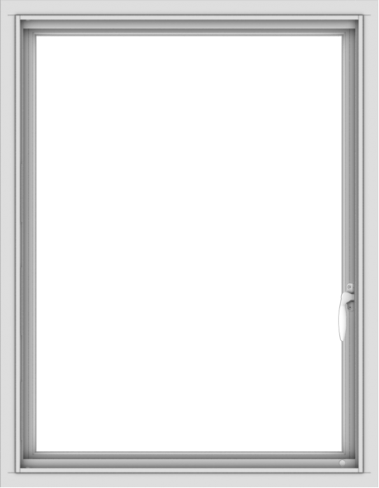 WDMA 28x36 (27.5 x 35.5 inch) Vinyl uPVC White Push out Casement Window without Grids Interior