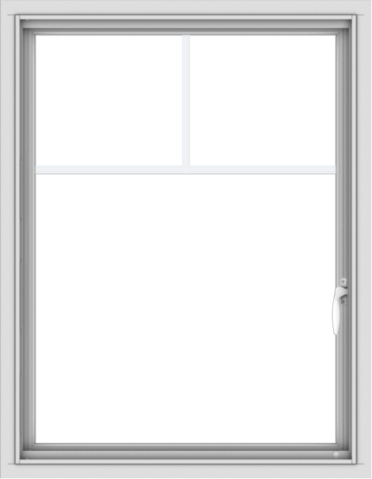 WDMA 28x36 (27.5 x 35.5 inch) Vinyl uPVC White Push out Casement Window with Fractional Grilles