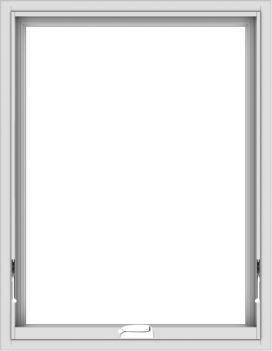 WDMA 28x36 (27.5 x 35.5 inch) White Vinyl uPVC Crank out Awning Window without Grids