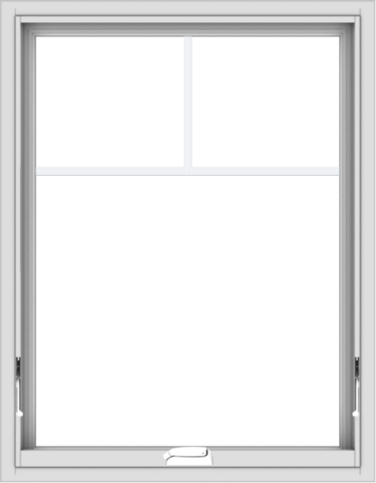 WDMA 28x36 (27.5 x 35.5 inch) White Vinyl uPVC Crank out Awning Window with Fractional Grilles