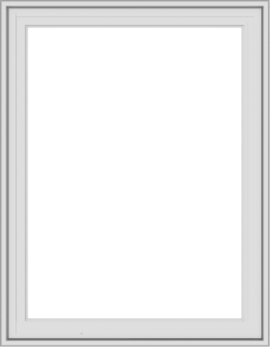WDMA 28x36 (27.5 x 35.5 inch) White Vinyl uPVC Crank out Casement Window without Grids Exterior