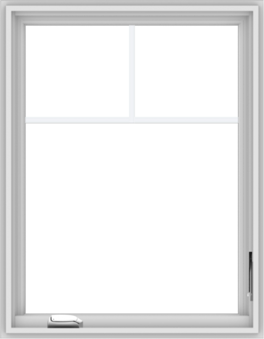 WDMA 28x36 (27.5 x 35.5 inch) White Vinyl uPVC Crank out Casement Window with Fractional Grilles