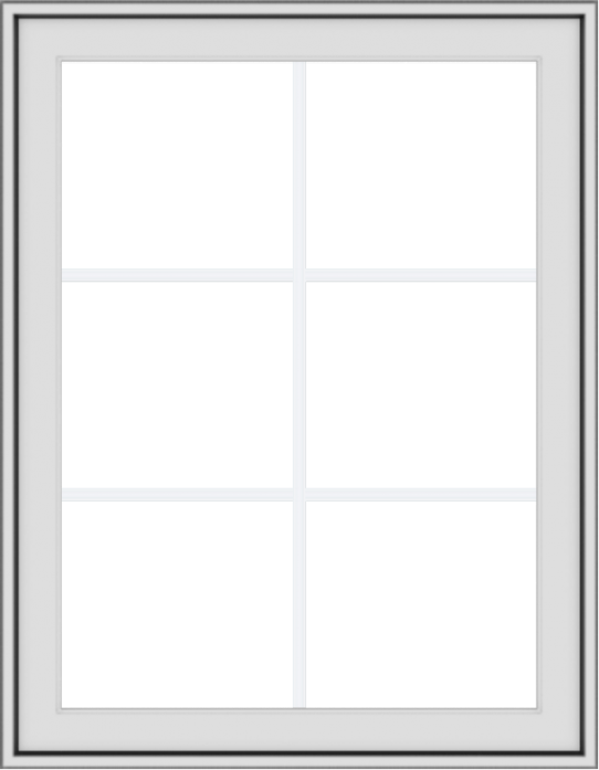 WDMA 28x36 (27.5 x 35.5 inch) White uPVC Vinyl Push out Awning Window with Colonial Grids Exterior