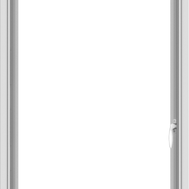 WDMA 28x40 (27.5 x 39.5 inch) Vinyl uPVC White Push out Casement Window without Grids Interior