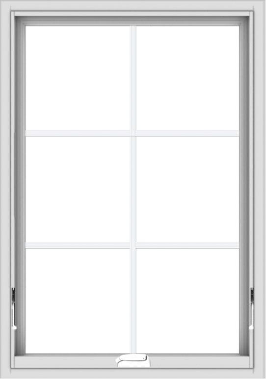 WDMA 28x40 (27.5 x 39.5 inch) White Vinyl uPVC Crank out Awning Window with Colonial Grids Interior