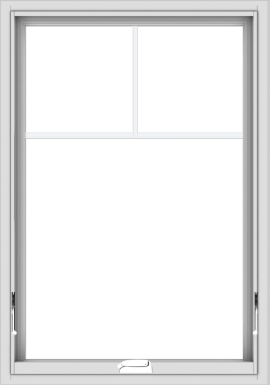 WDMA 28x40 (27.5 x 39.5 inch) White Vinyl uPVC Crank out Awning Window with Fractional Grilles