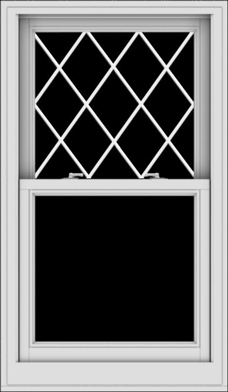 WDMA 28x48 (27.5 x 47.5 inch)  Aluminum Single Double Hung Window with Diamond Grids
