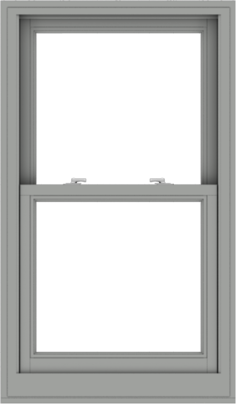 WDMA 28x48 (27.5 x 47.5 inch)  Aluminum Single Double Hung Window without Grids-1