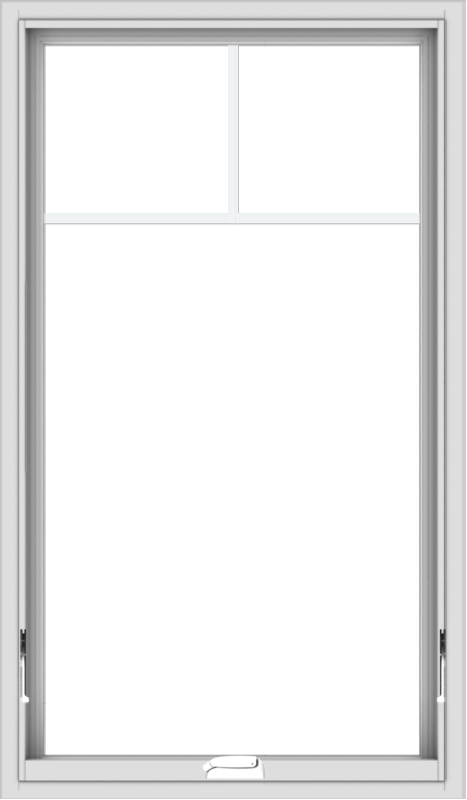 WDMA 28x48 (27.5 x 47.5 inch) White Vinyl uPVC Crank out Awning Window with Fractional Grilles