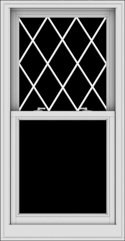 WDMA 28x54 (27.5 x 53.5 inch)  Aluminum Single Double Hung Window with Diamond Grids
