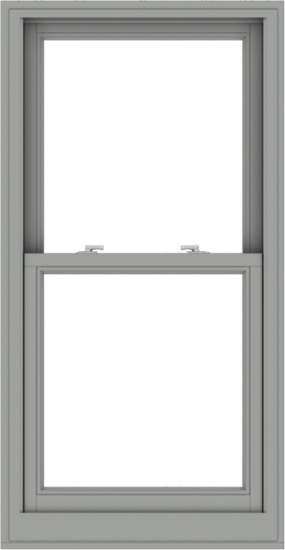 WDMA 28x54 (27.5 x 53.5 inch)  Aluminum Single Double Hung Window without Grids-1
