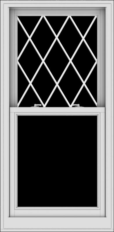WDMA 28x57 (27.5 x 56.5 inch)  Aluminum Single Double Hung Window with Diamond Grids
