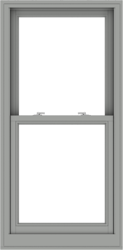 WDMA 28x57 (27.5 x 56.5 inch)  Aluminum Single Double Hung Window without Grids-1