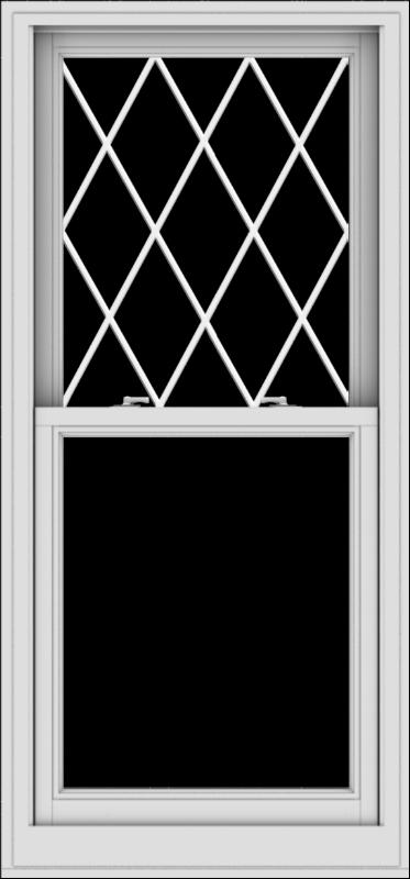 WDMA 28x60 (27.5 x 59.5 inch)  Aluminum Single Double Hung Window with Diamond Grids
