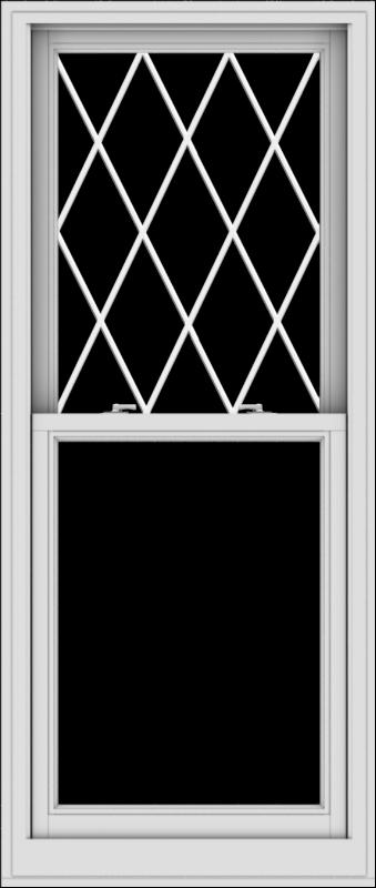 WDMA 28x66 (27.5 x 65.5 inch)  Aluminum Single Double Hung Window with Diamond Grids
