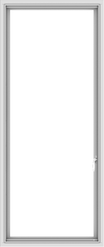 WDMA 28x66 (27.5 x 65.5 inch) White Vinyl uPVC Push out Casement Window without Grids Interior