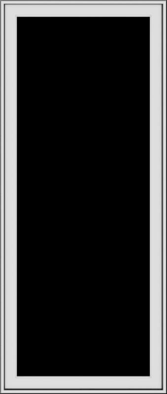 WDMA 28x66 (27.5 x 65.5 inch) White Vinyl uPVC Push out Casement Window without Grids Exterior